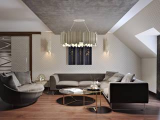 Baku S House Salones de estilo moderno de Tolga Archıtects Moderno