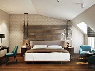 Baku S House Dormitorios modernos de Tolga Archıtects Moderno