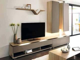Modern TV Cabinet Wall Unit- Living room: modern  by Innoire Design,Modern