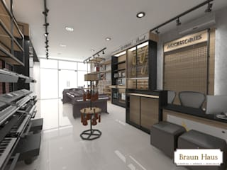 Industrial style offices & stores by Braun Haus Industrial