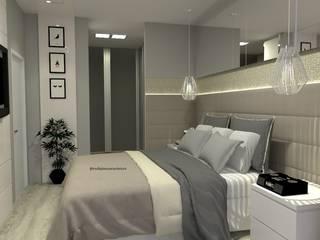 Laene Carvalho Arquitetura e Interiores Dormitorios de estilo moderno Hormigón Gris