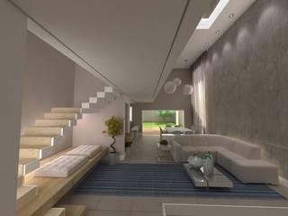 Projeto Residencial  K&I: Escadas  por Karina Christofaro Arquiteta,Moderno