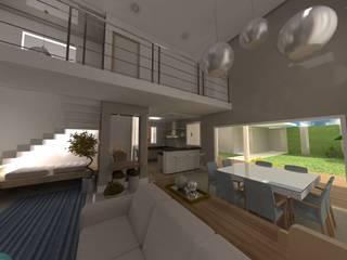 Projeto Residencial  K&I: Salas de estar  por Karina Christofaro Arquiteta,Moderno