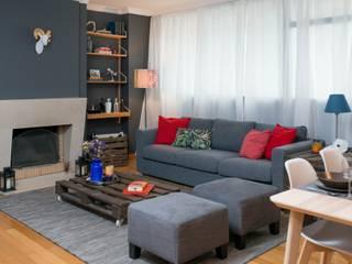 Sala de Estar: Salas de estar  por  Rita Salgueiro - Full Ideas