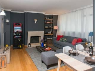 Sala Estar : Salas de estar  por  Rita Salgueiro - Full Ideas