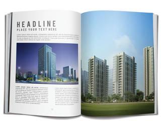 Real Estate Booklet Ideas By Yantram Corporate Identity Design Agency - London, UK Klasik Bar & Kulüpler Yantram Architectural Design Studio Klasik