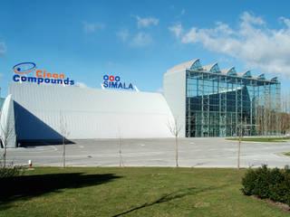 Clean Compounds, SA: Escritórios e Espaços de trabalho  por JOÂO MIGUEL PINHEIRO - Arquitectos Associados,Industrial