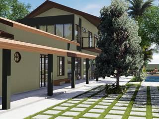 Chácara SBE Casas rústicas por Hamilton Turola Arquitetura e Design Rústico