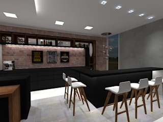 Ruang Penyimpanan Wine/Anggur Modern Oleh Cláudia Legonde Modern