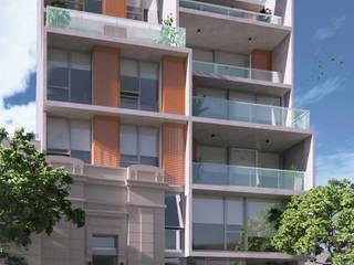 Balcones y terrazas de estilo moderno de Mauricio Morra Arquitectos Moderno