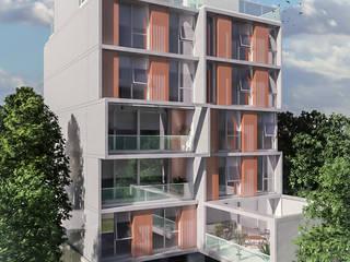 Balcone, Veranda & Terrazza in stile moderno di Mauricio Morra Arquitectos Moderno
