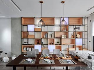 Livings de estilo moderno de WID建築室內設計事務所 Architecture & Interior Design Moderno