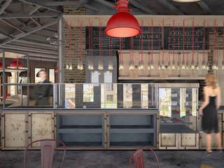 Kargaraj İç Mimarlık Tasarım Atelyesi – BANKO TASARIMI:  tarz Bar & kulüpler