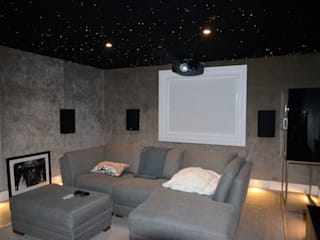 Cinemascope Dolby Atmos 7.4.2 Home Cinema HiFi Cinema Ltd. Modern media room Grey