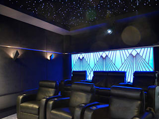 Multi-Room AV and Dedicated Home Cinema HiFi Cinema Ltd. Modern media room Grey