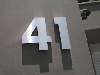 Número residencial em Aço escovado:   por Decoralis