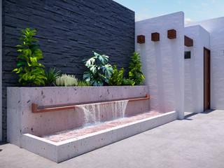 FUENTE / BAÑO: Estanques de jardín de estilo  por Francisco Cruz & Arquitectos