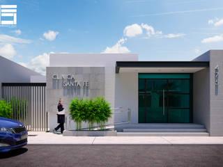 CLINICA SANTA FE : Estudios y oficinas de estilo moderno por Francisco Cruz & Arquitectos