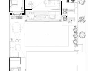 Terreno Familiar contemporáneo :  de estilo  por Estudio Monroy Arquitectos