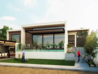 Terreno Familiar contemporáneo : Casas de estilo  por Estudio Monroy Arquitectos