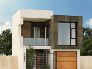 Remodelación Fachada Contemporánea : Casas de estilo  por Estudio Monroy Arquitectos