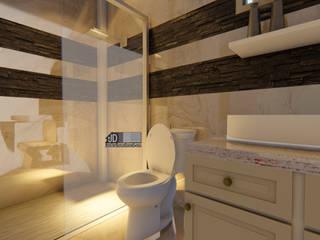 Desain Rumah Modern Bapak Barik Di Malang:  Kamar Mandi by Wahana Utama Studio