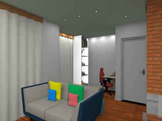 Apartamento - Fortaleza/CE: Escritórios  por Paes de Andrade Arquitetura,Rústico