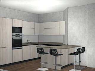 Modern style kitchen by Formarredo Due design 1967 Modern