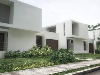 Jardin avant de style  par RRA Arquitectura,