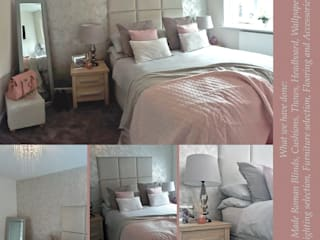 Pale pink and grey bedroom:   by Ka Interiors