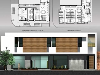 arquitectura+proyectos Commercial Spaces คอนกรีต White