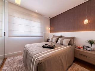 Dormitorios de estilo moderno de Larissa Lieders Arquitetura + Interiores Moderno