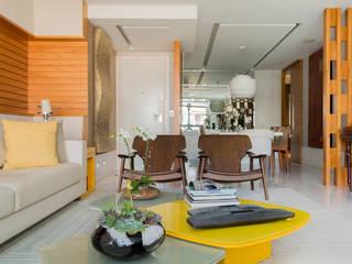 Elaine Ramos | Arquitetos Associados Modern corridor, hallway & stairs
