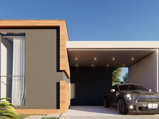Fachada contemporânea: Casas familiares  por Vortice Arquitetura