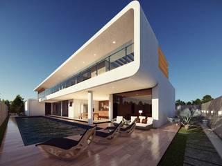 Área de lazer, um pequeno resort. homify Casas modernas