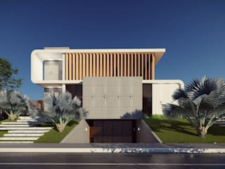 Fachada provocativa: Casas  por Vortice Arquitetura