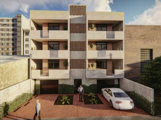 Departamentos Ohtenco: Casas multifamiliares de estilo  por CAVEM Studio de Arquitectura