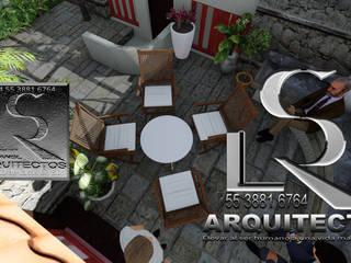 Maquetas virtuales de casa habitación en imágenes renders: Cabañas de madera de estilo  por RIANSLARQUITECTOS