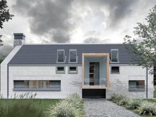 TypNowy+: styl nowoczesne, w kategorii Domy zaprojektowany przez ZA-ARCHITEKT