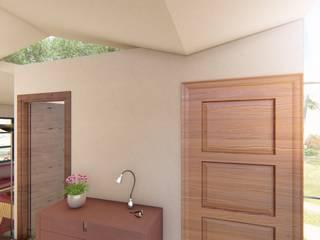 Couloir et hall d'entrée de style  par BIM Urbano, Minimaliste OSB