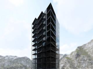 Torre Onyx: Espacios comerciales de estilo  por Noroeste Arquitectos