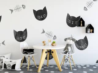 Fototapeta REDRO czarne koty: styl , w kategorii  zaprojektowany przez REDRO