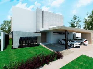 Fachada principal: Casas unifamiliares de estilo  por Facere Arquitectura