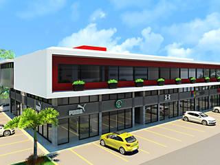 Centro comercial: Espacios comerciales de estilo  por Facere Arquitectura