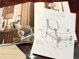 Bocetos de muebles e iluminación de K&M CASA