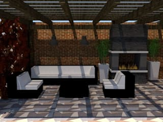 Hacienda: Salas de estilo  por Fire Design AR,