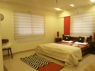 MODEL FLAT-PBEL CITY, CHENNAI:  Bedroom by Crafted Spaces