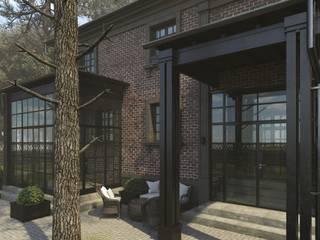 Дизайн и визуализация фасада загородного дома в стиле лофт: Загородные дома в . Автор – Антон Булеков