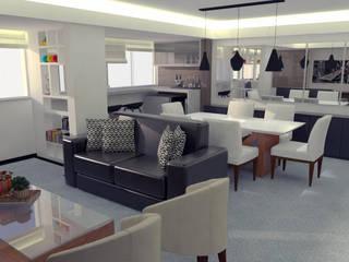 SALA AJ - Asa Norte/ DF Salas de estar modernas por 4 Arquitetas Moderno