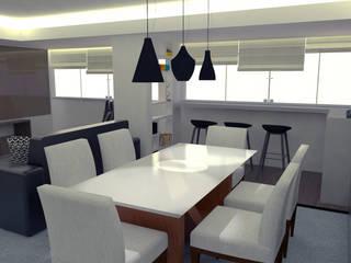 SALA AJ - Asa Norte/ DF Salas de jantar modernas por 4 Arquitetas Moderno